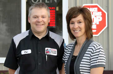 Owners of Auto Care Shop Osakis Minnesota